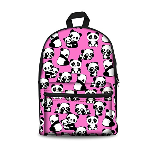 K Pup Cartable H8570J panda Coloranimal Abstract Multicolore pink HZ6gIpqw