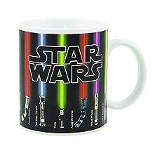 Benair USA Magic Mug, Star Wars Lightsaber Beams up with Hot Liquid Added, 100 Percent Ceramic, Not Dishwasher or Microwave Safe, Standard 12 fl. oz., Black