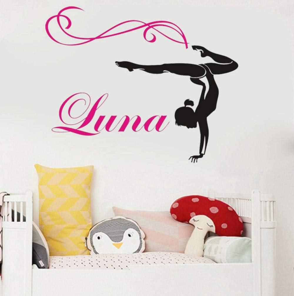 Gymnastics Dance Wall Decal /& Personalized Name Vinyl Sticker Decor Kids Room
