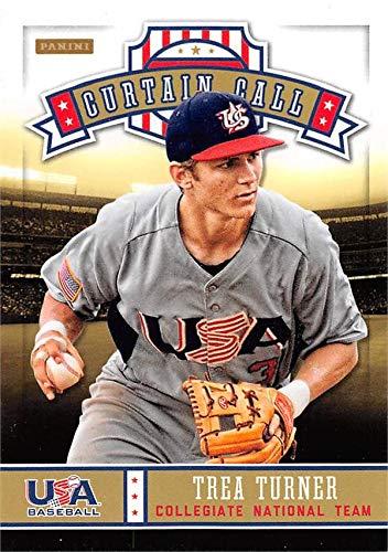 Trea Turner baseball card (Team USA, Washington Nationals) 2013 Panini Curtain Call Rookie #8 ()