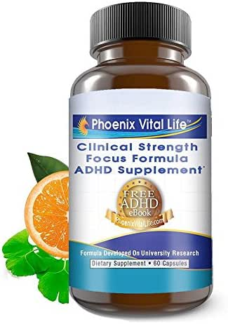 Focus Formula Supplement-Vitamins for Attention-Concentration & Learning Enhancement- Memory Mood Stability Pill- Omega 3-Gingko Vitamins C D B6 B12-Thiamine Riboflavin Zinc Iodine for Women Men