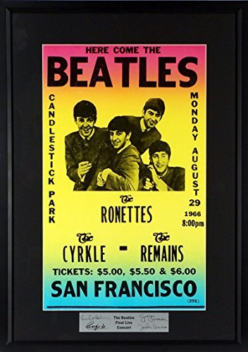 The Beatles @ Candlestick Park Concert Poster (SGA Signature Series) Framed