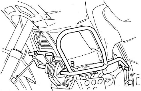 Hepco/&Becker Motorschutzb/ügel //GT //GT//AC//Elefant 900//950 i.e schwarz f/ür Cagiva Elefant 750 i.e