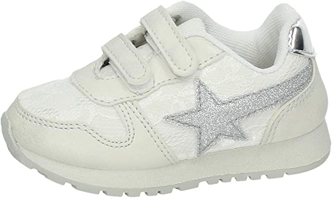 DEMAX K09-12 Zapatillas Purpurina NIÑA Deportivos Blanco 23: Amazon.es: Zapatos y complementos