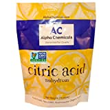 Non-GMO Project Verified Citric Acid - 1 Pound - Organic, 100% Pure - Alpha Chemicals