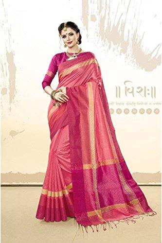 Indian Party Pink for Designer Wear Traditional Sari Wedding Facioun Da 7 Women Sarees 5xpq40UwF