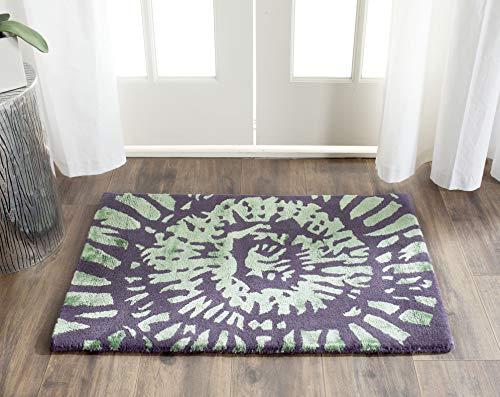 Safavieh Capri Collection CPR411C Handmade Modern Abstract Art Lavender and Sage Premium Wool Runner (2' x 3')