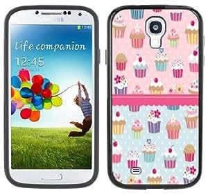 Cupcakes Samsung Galaxy S4 Black Bumper Hard Plastic Case