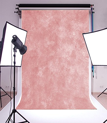 Laeacco 5X7FT Vinyl Backdrop Thin Photography Background Shabby Old Vintage Soft Light Pink Theme Solid Color Backdorp Persoanl Portraits,1.5m Wide x2.2m High Photo Studio Props