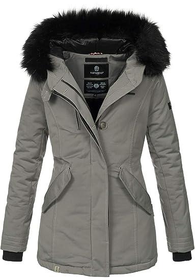 Damen Mantel Jacke B626 Parka Navahoo Warm Gefüttert Winterjacke Winter NmyvP8On0w