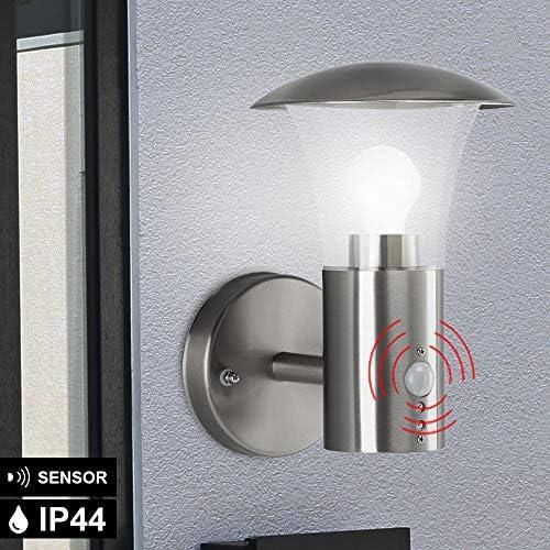 Wand Laterne FERNBEDIENUNG Bewegungsmelder Außen Lampe dimmbar im Set inkl. RGB LED Leuchtmittel