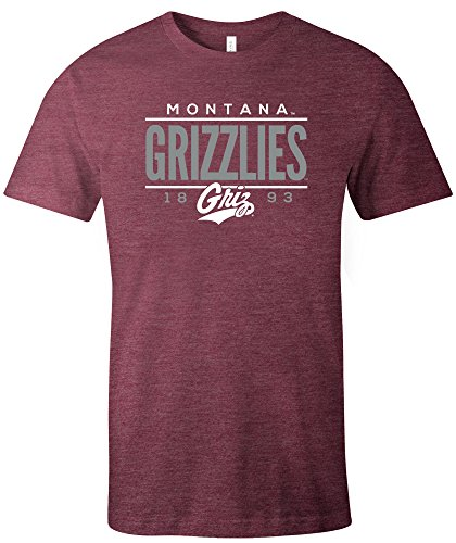 NCAA Montana Grizzlies Tradition Short Sleeve Tri-Blend T-Shirt, Maroon,Large