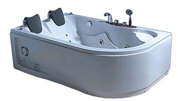 Baignoire Balneo Massante Model Havana 170 X 115 Cm Angle Haute Bain