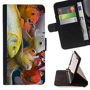 Momo Phone Case / Flip Funda de Cuero Case Cover - Colorido pescados de Koi - Samsung Galaxy Note 3 III