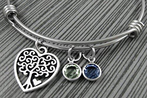 Tree of Life Charm Bracelet / Family Tree / Mom Gifts / Adjustable Tree of Life Bangle