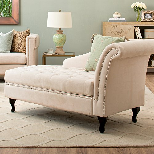 Storage chaise lounge luxurious tufted classic traditional for S shaped chaise lounge chairs