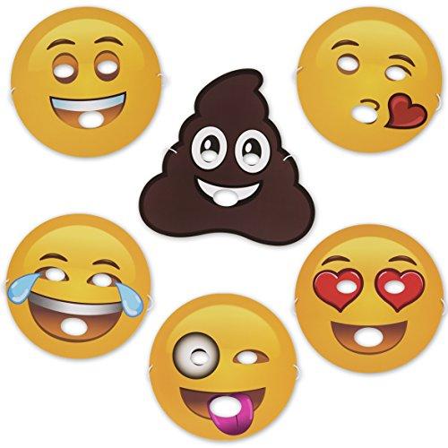 Smiley Costume Halloween (Emoji Universe: Emoji Foam Masks, 12 Pack)
