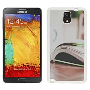 NEW Custom Designed For SamSung Note 4 Case Cover Phone With Open Book On Table_White Phone