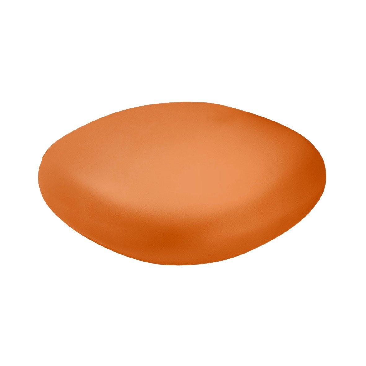 Slide Chubby Low Pouf - Small table Pumpkin Orange