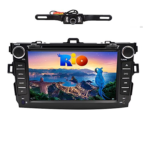 For TOYOTA Corolla (support year 2009 2010) 8 inch Indash CAR DVD Player GPS Navigation Navi iPod Bluetooth Rear Camera HD Touchscreen TV Radio RDS FM with Free Map Card