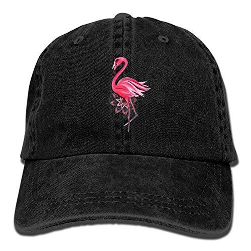 Camping Hair Pink Flamingo Bird Unisex Adult Adjustable Cowboy Dad Hats ()