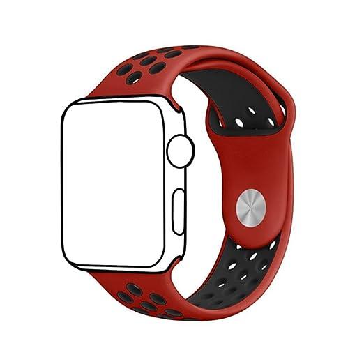 96 opinioni per Cinturino Smart Watch,Ontube 38MM Banda di ricambio molle del silicone con fori