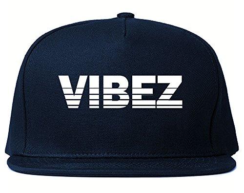 Kings Of NY VIBEZ Racing Style Snapback Hat Navy - Navy Soho Nyc