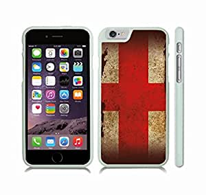 iStar Cases? iPhone 6 Plus Case with England Flag Antique Distressed Grunge Design , Snap-on Cover, Hard Carrying Case (White)