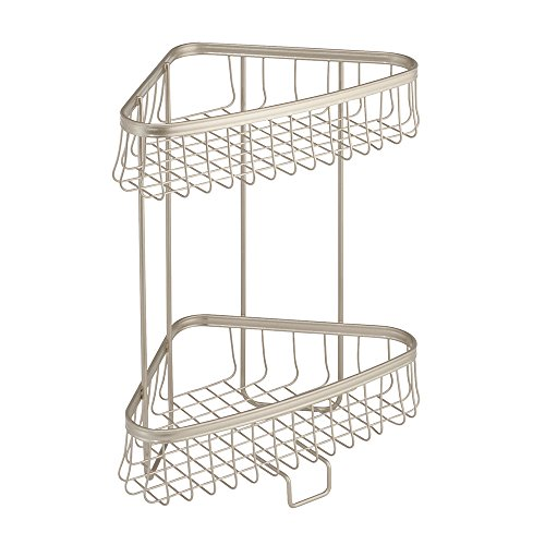 iDesign York Metal Wire Free-Standing 2-Tier Shelves, Vanity