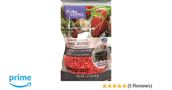 Amazon.com: Better Homes and Gardens Scent Bursts Sunlit Strawberry Patch 1.41 OZ: Home & Kitchen