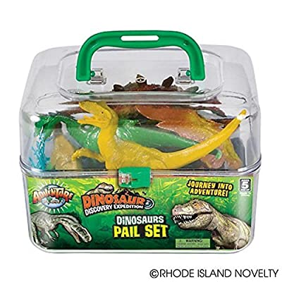 Adventure Planet Dinosaur Set with Carrying Case, 20-Piece: Toys & Games