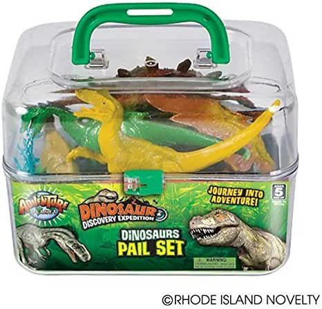 Adventure Planet Dinosaur Set with Carrying Case, 20-Piece