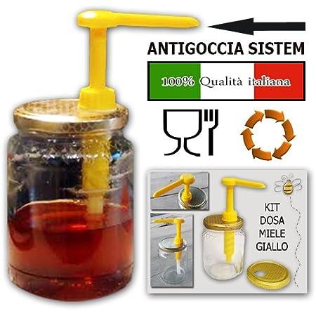Kit dispensador de miel, color amarillo, de calidad certificada italiana.: Amazon.es: Hogar