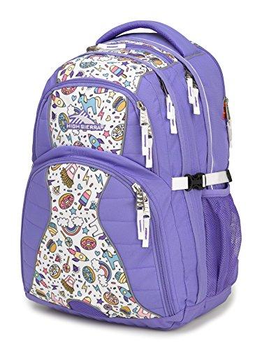 High Sierra Swerve Laptop Backpack, Lavender/Sweet Cakes/White