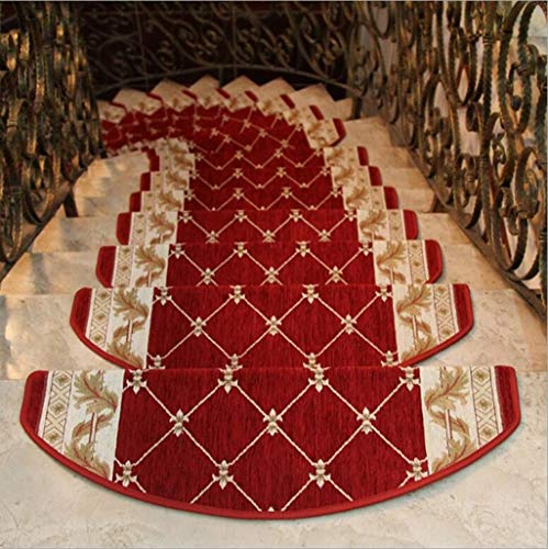 1-Pieces Stair Carpet Sets Slip Resistance Stair Tread Mats Step Rug for Stair 0.79ftx2.46ft Fit for 0.82ft Width Stair