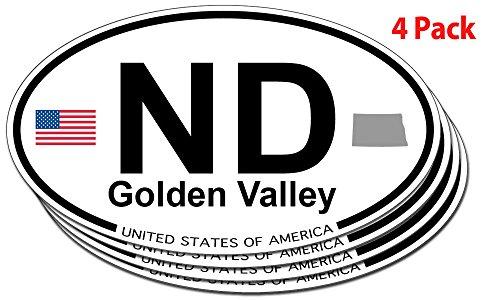 golden-valley-north-dakota-oval-sticker-4-pack
