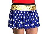 ROCK Wonder Woman Inspired Gold and Star Print Superhero Running Skirt | Running Costume | Wonder Woman Skirt
