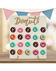 Wooden Donut Stand Display, Doughnut Wall Display Holder, Reusable Dessert Table Donuts Rack for Wedding Birthday Party Baby Shower Christmas New Year