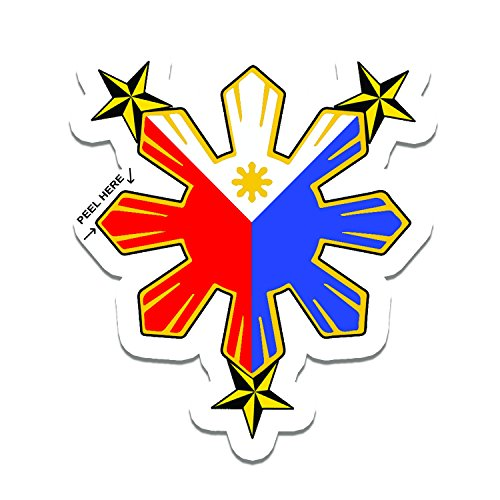 - Philippine Flag Sun with Nautical Star Car Decal / Stickers