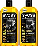 SYOSS Elixir Nutrition Shampooing Huile 500 ml - Lot de 2