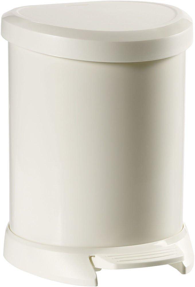 CURVER 02160 Metallics Cubo de Basura con Pedal Color Rojo met/álico 5 L