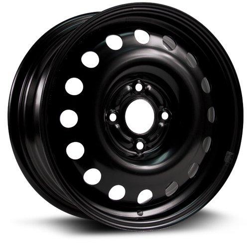 Steel Rim 15X6, 4X108, 63.5, +48, black finish (MULTI APPLICATION FITMENT) X40831 by RTX