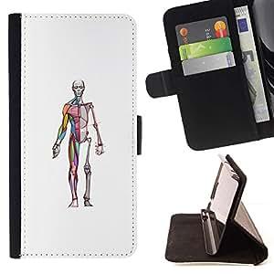 Momo Phone Case / Flip Funda de Cuero Case Cover - Squelette Docteur Chirurgien - Samsung Galaxy Note 4 IV