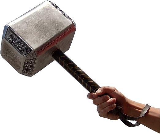 Avengers Endgame Martillo De Thor De Espuma De Poliuretano Para Adultos 17 Pulgadas Gran Tamaño Para Adultos Juguete Coleccionistas Accesorios Para Cosplay Réplica De Arma Plateada Gris Clothing