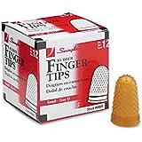 Swingline 54031 Rubber Finger Tips, Small, 9/16-Inch Diameter, 12/BX, Amber