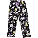 Disney Womens Jack Skellington Nightmare Before Christmas Super Minky Fleece Pajama Pants