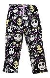 Disney Womens Jack Skellington Nightmare Before Christmas Super Minky Fleece Pajama Pants (Large 12-14)