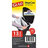 GLAD GLD-74030 Plastic Step Trash Can with Clorox