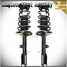 WIN-2X New 2pcs Rear Right+Left Quick Complete Suspension Strut Shock & Coil Springs Assembly Kit Fit 93-02 Toyota Corolla Sedan 93-97 Geo Prizm 98-02 Chevy Prizm