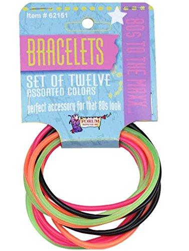[Forum Novelties 80's Bracelet Set (2-Pack)] (80s Costumes For Boys)